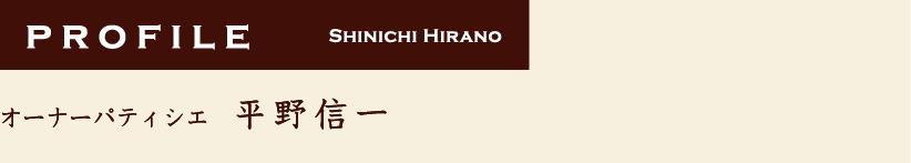 平野信一profile