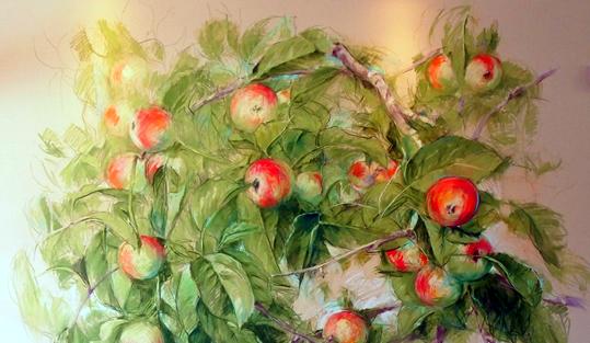 りんごの絵画